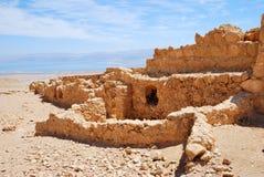 Fortezza antica Massada Fotografie Stock