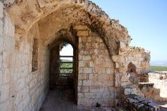 Fortezza antica Yehiam Immagini Stock