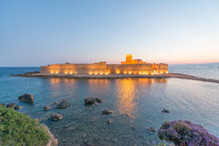 Fortezza Aragoneseat night, Le Castella - Calabria - Italy.  Stock Photography