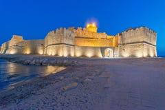 Fortezza Aragoneseat night, Le Castella - Calabria - Italy.  Stock Photos