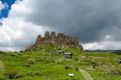 Fortezza armena Amberd fotografie stock libere da diritti