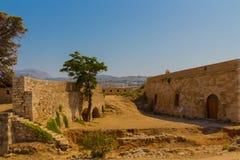 Fortezza av Rethymno, Grekland Arkivfoto
