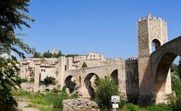 Fortezza Besalu, Spagna Fotografia Stock