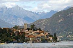 Lago Como in Italia, Rezzonico Fotografie Stock