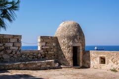 Fortezza de Rethymno, isla de Creta, Grecia imagen de archivo