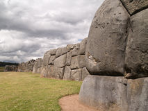 Fortezza del Inca di Sacsayhuaman Fotografie Stock Libere da Diritti