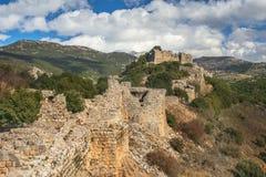 Fortezza del Nimrod, alture del Golan, Israele Fotografie Stock Libere da Diritti