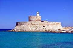 Fortezza del san Nicholas, Rodi. fotografia stock libera da diritti