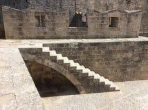 Fortezza della città di Rhodes Old, Grecia Fotografie Stock Libere da Diritti
