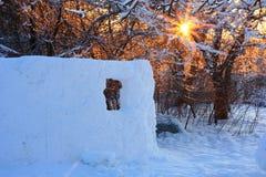 Fortezza della neve Immagine Stock
