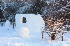 Fortezza della neve Fotografie Stock