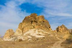 Fortezza della roccia in Cappadocia vicino a Goreme Immagini Stock Libere da Diritti