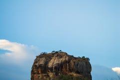 Fortezza della roccia della roccia di Sigiriya Lion's Immagini Stock