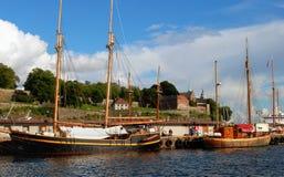 Fortezza di Akerhus a Oslo fotografia stock libera da diritti