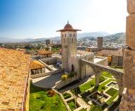 Fortezza di Akhaltsikhe, anche la fortezza di Rabat, i panorami ed il fra Immagini Stock Libere da Diritti