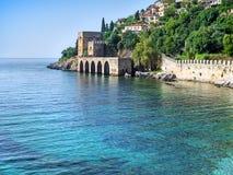 Fortezza di Alanya ed il mare Immagini Stock