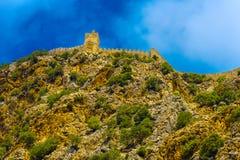 Fortezza di Alanya su alta roccia Fotografia Stock Libera da Diritti