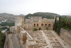 Fortezza di Alcazaba a Alhambra Fotografie Stock