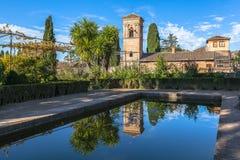 Fortezza di Alhambra Fotografie Stock Libere da Diritti