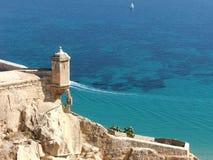 Fortezza di Alicante Fotografia Stock