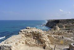 Fortezza di Apollonia vicino a Tel Aviv Fotografia Stock Libera da Diritti