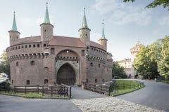 Fortezza di Barbakan a Cracovia Fotografie Stock Libere da Diritti