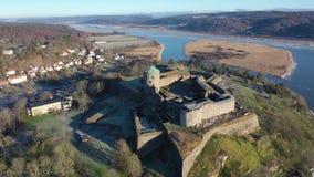 Fortezza di Bohus nell'inverno video d archivio
