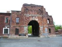 Fortezza di Brest L'entrata principale al memoriale di guerra Fotografia Stock Libera da Diritti