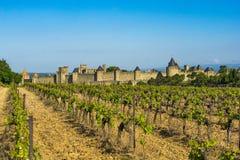 Fortezza di Carcassona, Francia Fotografia Stock Libera da Diritti