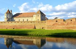 Fortezza di Fagaras, la Transilvania, Romania Fotografia Stock