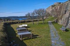 Fortezza di Fredriksten in Halden (zona della parte esterna) Fotografie Stock Libere da Diritti