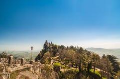 Fortezza di Guaita (della Guaita di Rocca), castello in San Marino Re Fotografia Stock Libera da Diritti