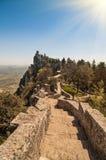 Fortezza di Guaita (della Guaita di Rocca), castello in San Marino Re Fotografia Stock