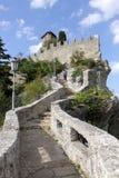 Fortezza di Guaita nella città del San Marino immagine stock libera da diritti