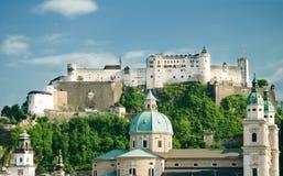 Fortezza di Hohensalzburg Fotografie Stock