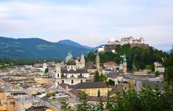 Fortezza di Hohensalzburg a Salisburgo Austria Fotografia Stock