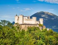 Fortezza di Hohensalzburg a Salisburgo, terra di Salzburger, Austria Fotografie Stock Libere da Diritti