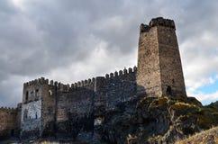 Fortezza di Khertvisi immagini stock libere da diritti