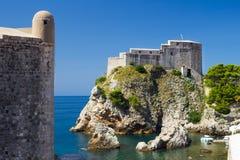 Fortezza di Lovrijenac in Ragusa Immagine Stock Libera da Diritti