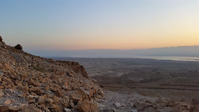 Fortezza di Masada Deserto di Judean Fotografia Stock