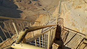 Fortezza di Masada Deserto di Judean Fotografia Stock Libera da Diritti