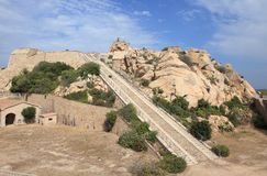 Fortezza Di Monte Altura, Sardinige Royalty-vrije Stock Foto
