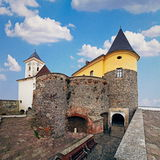 Fortezza di Mukachevo in Ucraina Immagini Stock