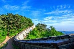 Fortezza di Namhansanseong in Corea del Sud fotografie stock