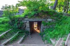 Fortezza di Namhansanseong in Corea del Sud immagine stock