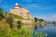 Fortezza di Narva L'Estonia, UE immagini stock libere da diritti