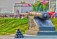 Fortezza di Omsk del monumento ed i fondatori della città fotografie stock