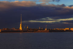 Fortezza di Peter-Pavel's immagini stock