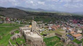 Fortezza di Rabat - una grande fortezza nella città di Akhaltsikhe, Georgia archivi video