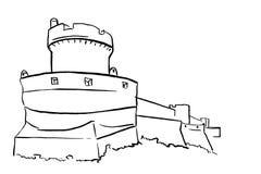 Fortezza di Ragusa La Croazia royalty illustrazione gratis